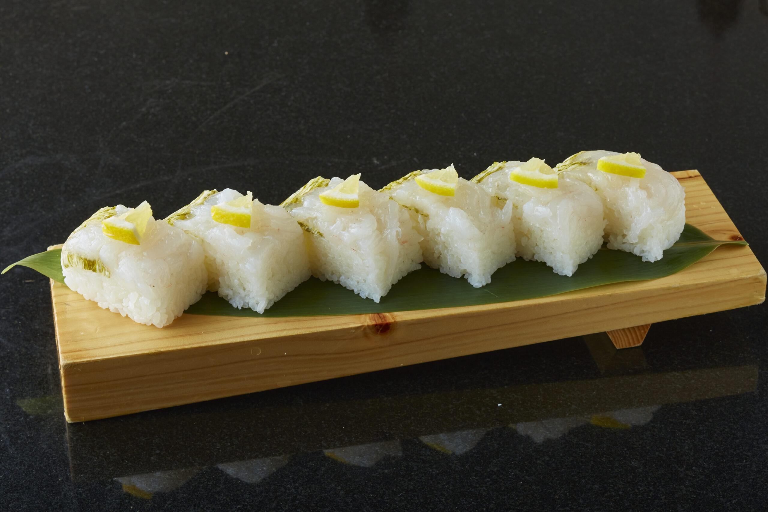 白海老押し寿司
