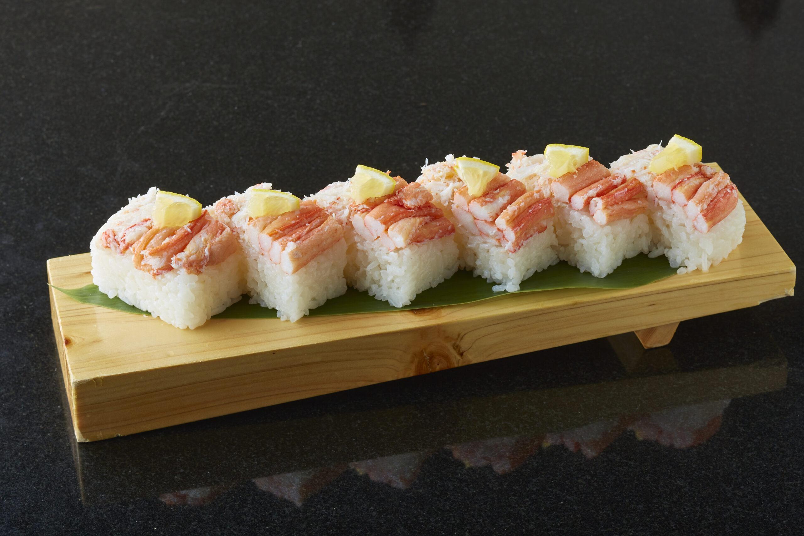 紅ずわい蟹押し寿司